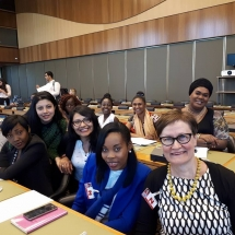 representantes de YWCA Colombia en Foro de la ONU Ginebra Suiza 11