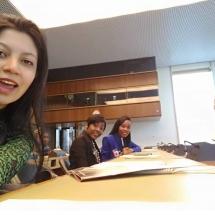 representantes de YWCA Colombia en Foro de la ONU Ginebra Suiza 12
