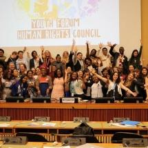 representantes de YWCA Colombia en Foro de la ONU Ginebra Suiza 14
