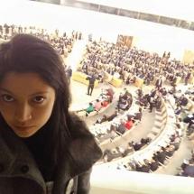 representantes de YWCA Colombia en Foro de la ONU Ginebra Suiza 2