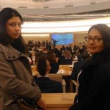representantes de YWCA Colombia en Foro de la ONU Ginebra Suiza