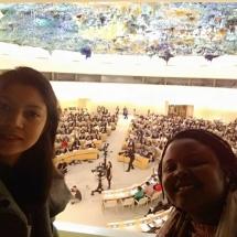 representantes de YWCA Colombia en Foro de la ONU Ginebra Suiza 4