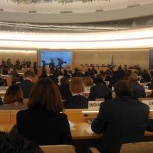 representantes de YWCA Colombia en Foro de la ONU Ginebra Suiza 5