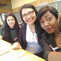 representantes de YWCA Colombia en Foro de la ONU Ginebra Suiza 9